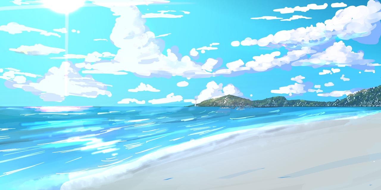 Beach Illust of 23 medibangpaint