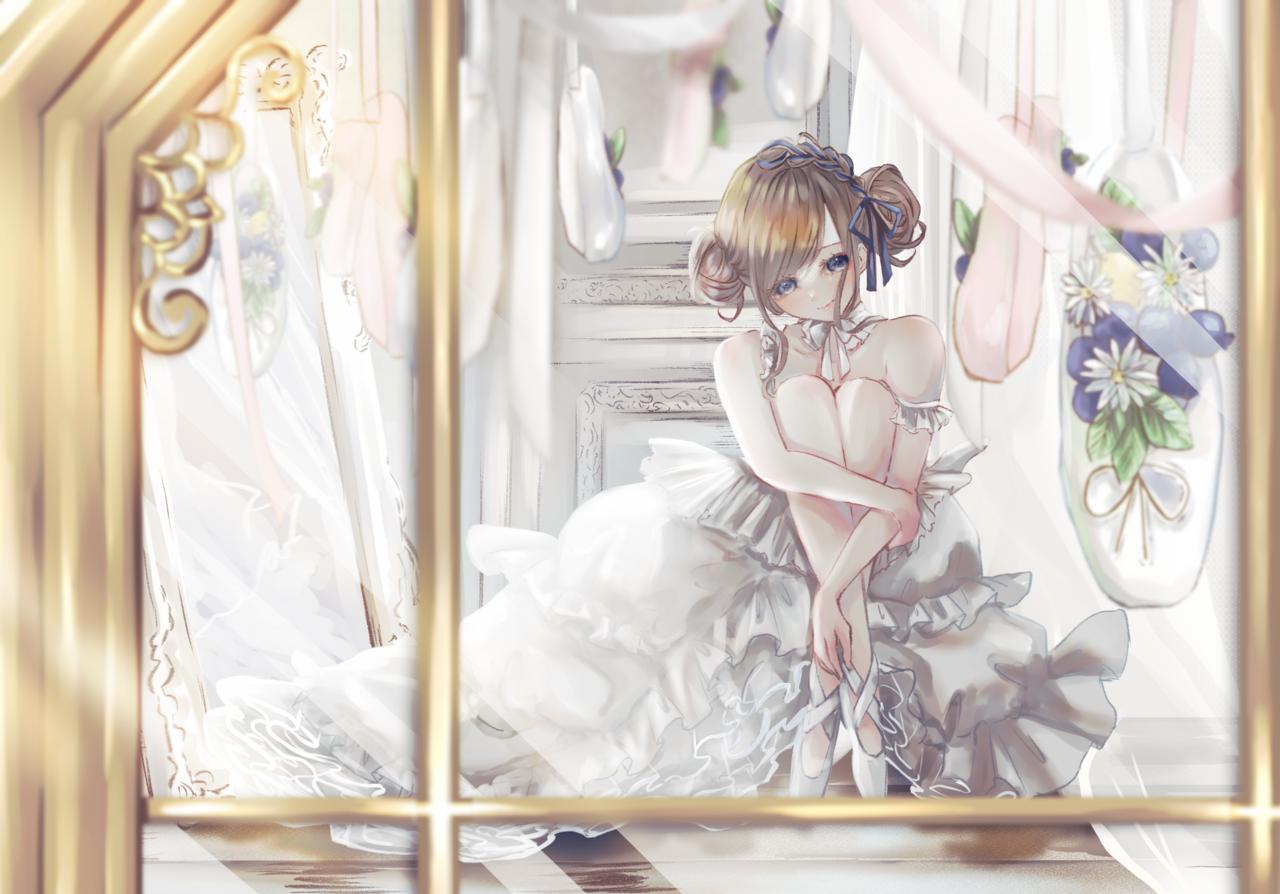 toe shoes shop Illust of りぃ🍎 flower girl illustrations illustration