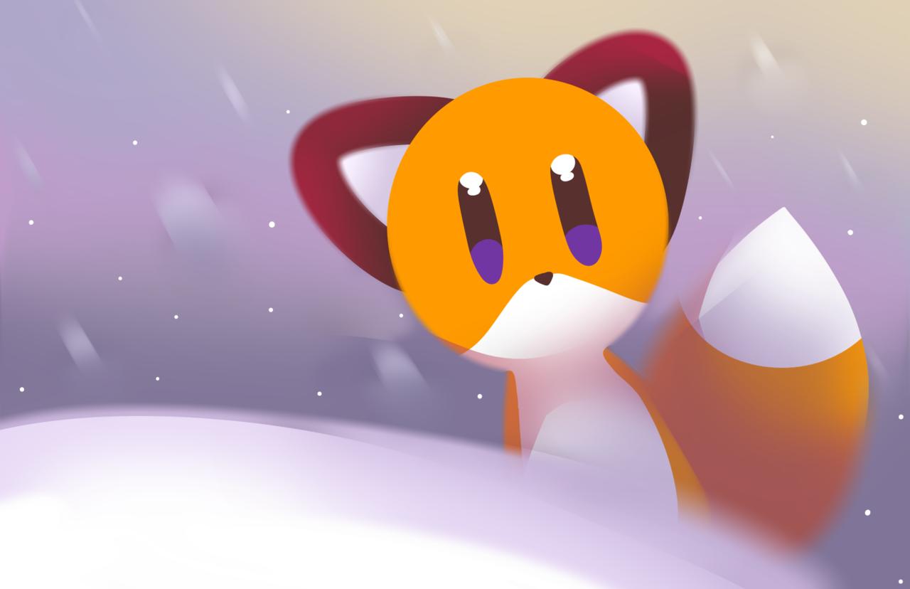 fox baby ( OwO ) Illust of Zizi medibangpaint ice fox cute baby
