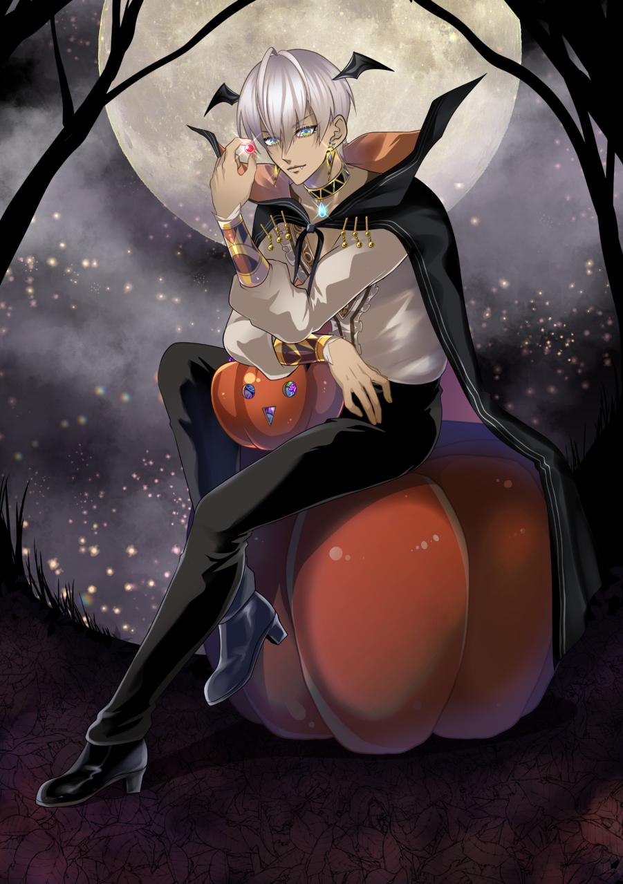 ハロウィンボイスイブ様 Illust of にゃすりぃ medibangpaint Halloween にじさんじ vampire イブラヒム