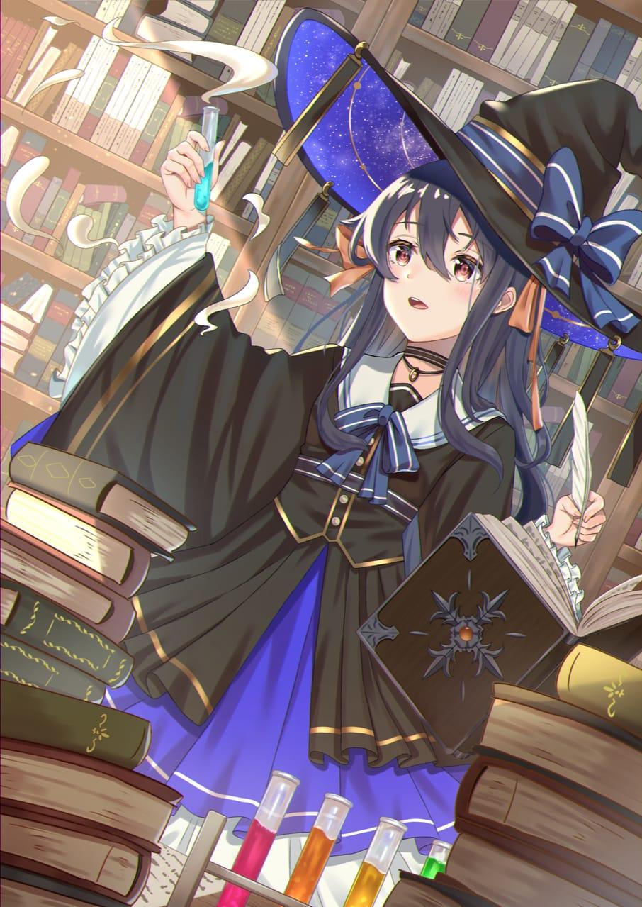 魔法の研究者 Illust of Calder February2021_Fantasy illustration 魔法 digital art girl original