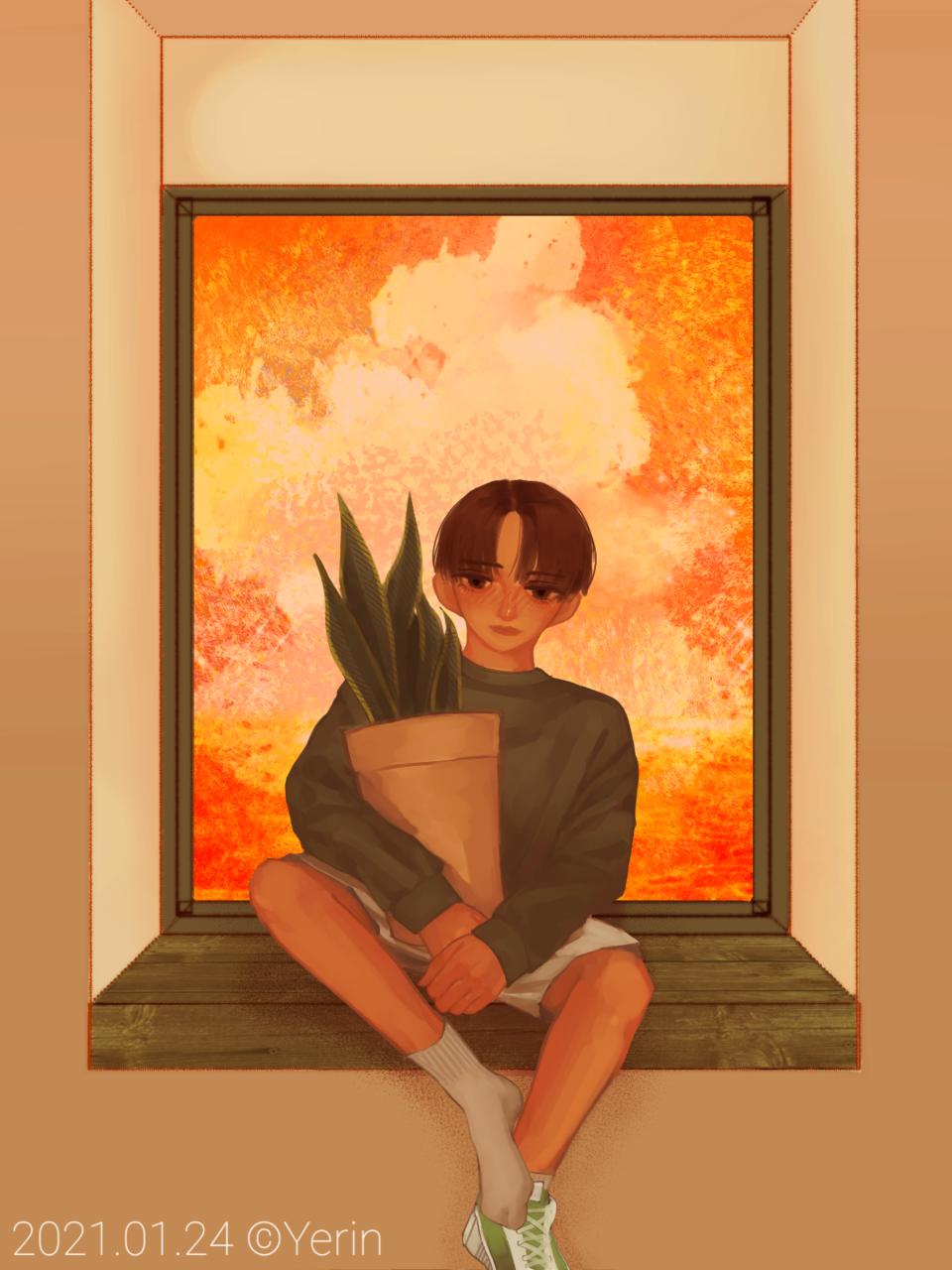 Illust of 하나두울 medibangpaint sunset