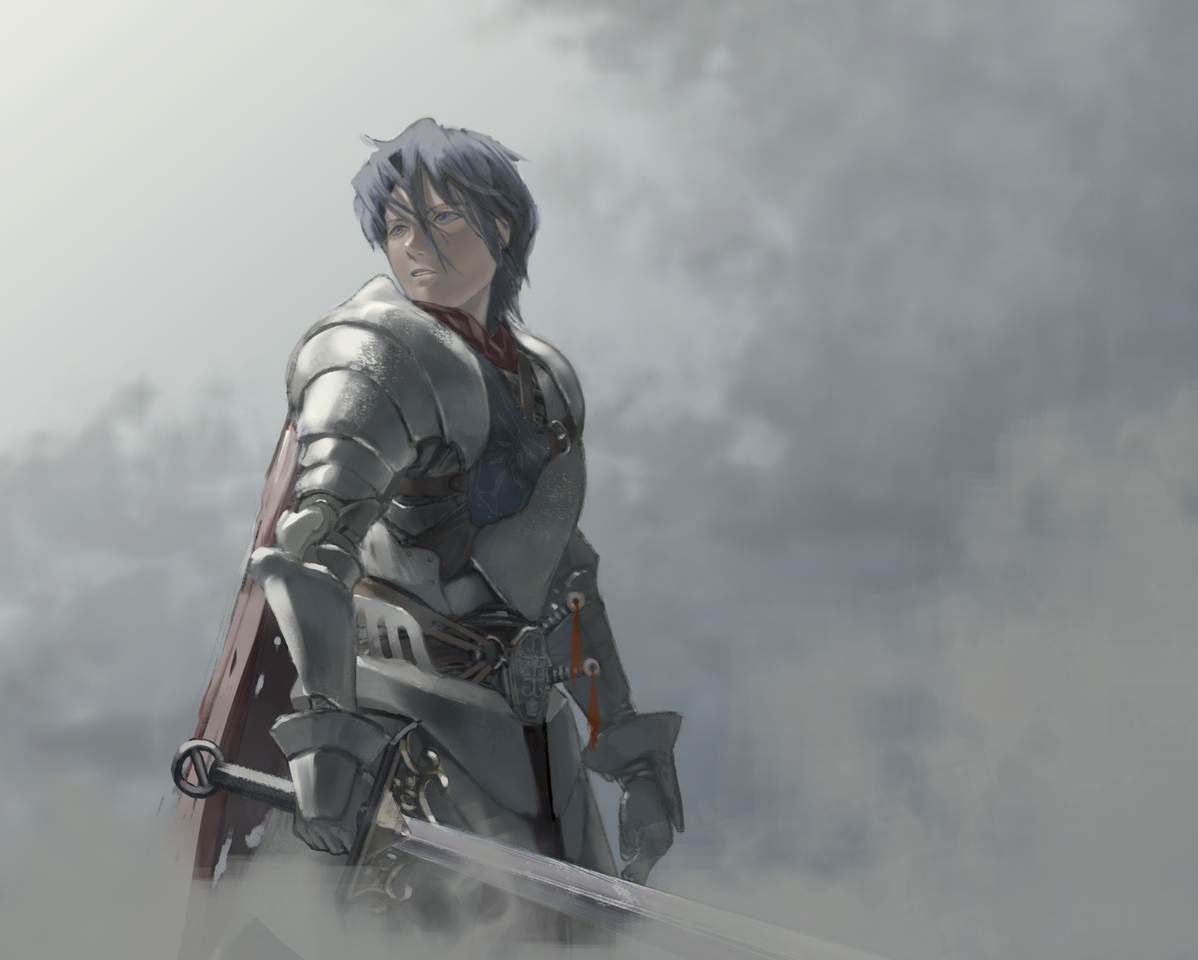 騎士 Illust of com fantasy ミリタリー Conceptart 騎士 キャラデザイン 甲冑 鎧 男の人 イラストレーション original