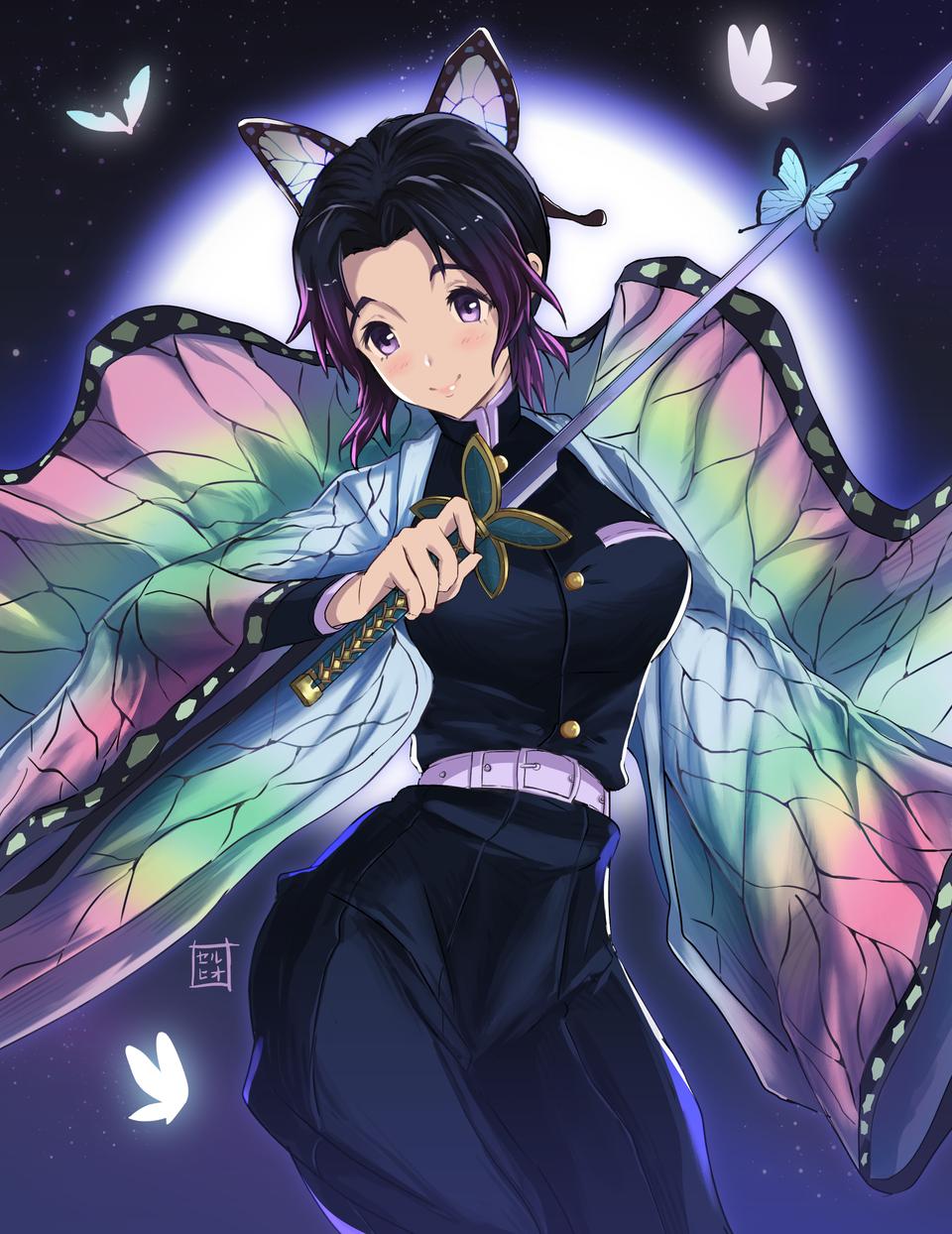 Shinobu Kosho Illust of pincheira.s DemonSlayerFanartContest blue KochouShinobu KimetsunoYaiba