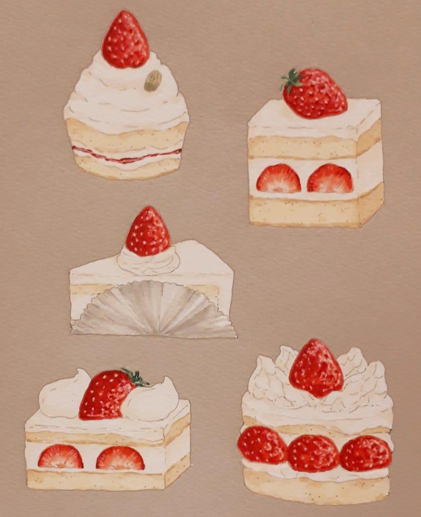 Strawberry Shortcakes Illust of 石蕗いずれ strawberry スイーツ cake