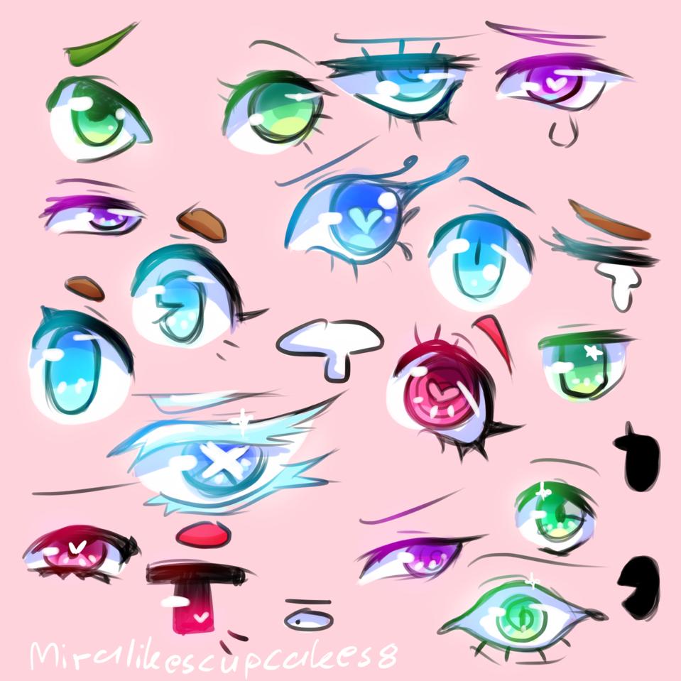 Eyes Illust of ☆miralikescupcakes8☆ medibangpaint blue Miralikescupcakes8 practice purple pink eyes green