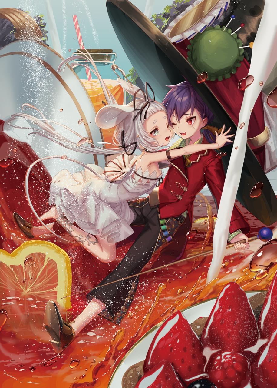 眠りねずみ2 Illust of yu-ri food girl ハイセンス strawberry boy 紅茶