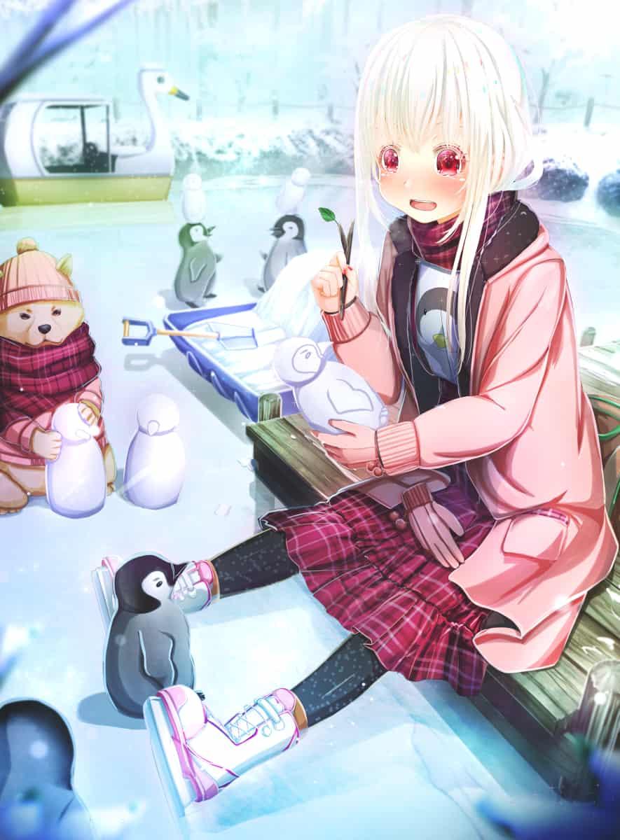 雪だるま作ろう Illust of あいうあぼ 雪だるま girl Penguin original