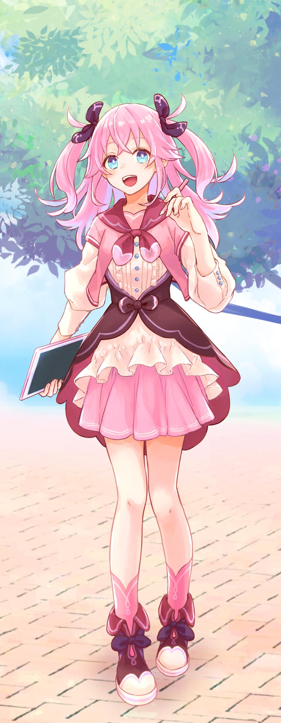PASTEL SKETCH ピンク Illust of RokusakiEi PASTEL_SKETCH2020 girl pink