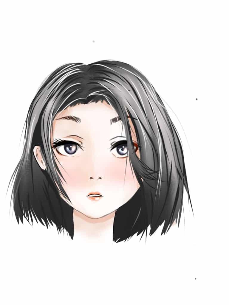 face sketch Illust of Syriin art face training
