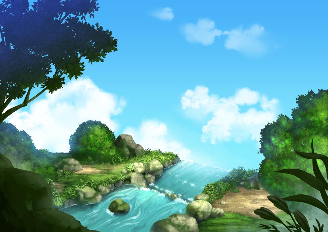 崖っぷち Illust of カイセイ fantasy background original