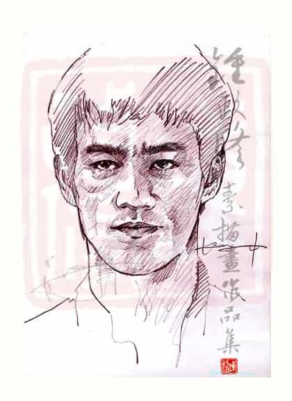 Bruce Lee 李小龍 鉛筆畫 Illust of kennychung