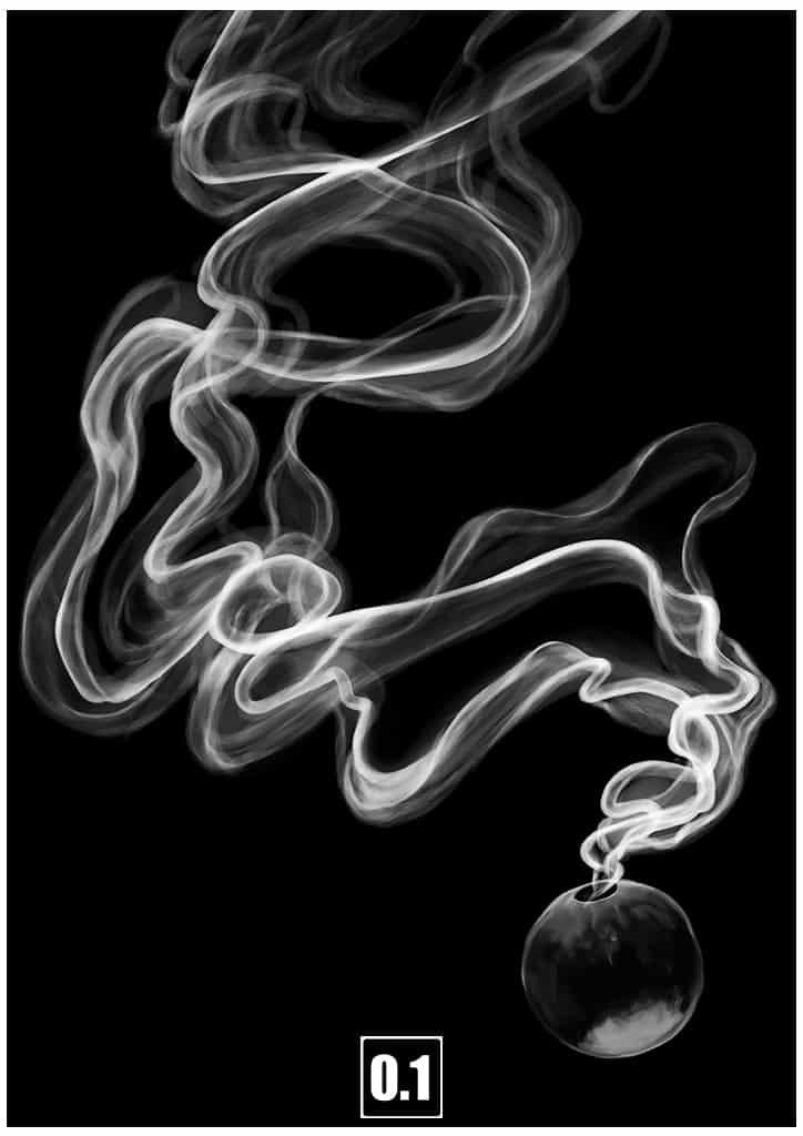 帯のように漂う煙の描き方 Illust of 0.1 メイキング impasto 煙 描き方