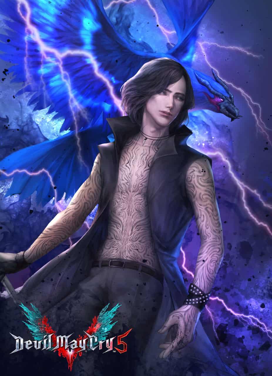 Devil May Cry 5 V Illust of Eden Chang