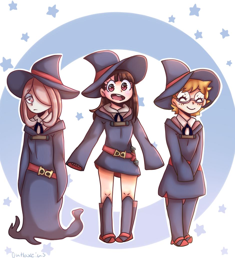 Trio (Little Witch Academia) Illust of Outlaxieus original witch star blue littlewitchacademia