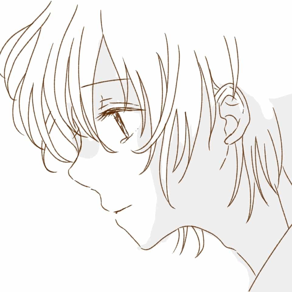 「「忘れないよ」」 Illust of 熊谷ユカ Post_Multiple_Images_Contest boy 黒髪 hair oc original sideface head tears