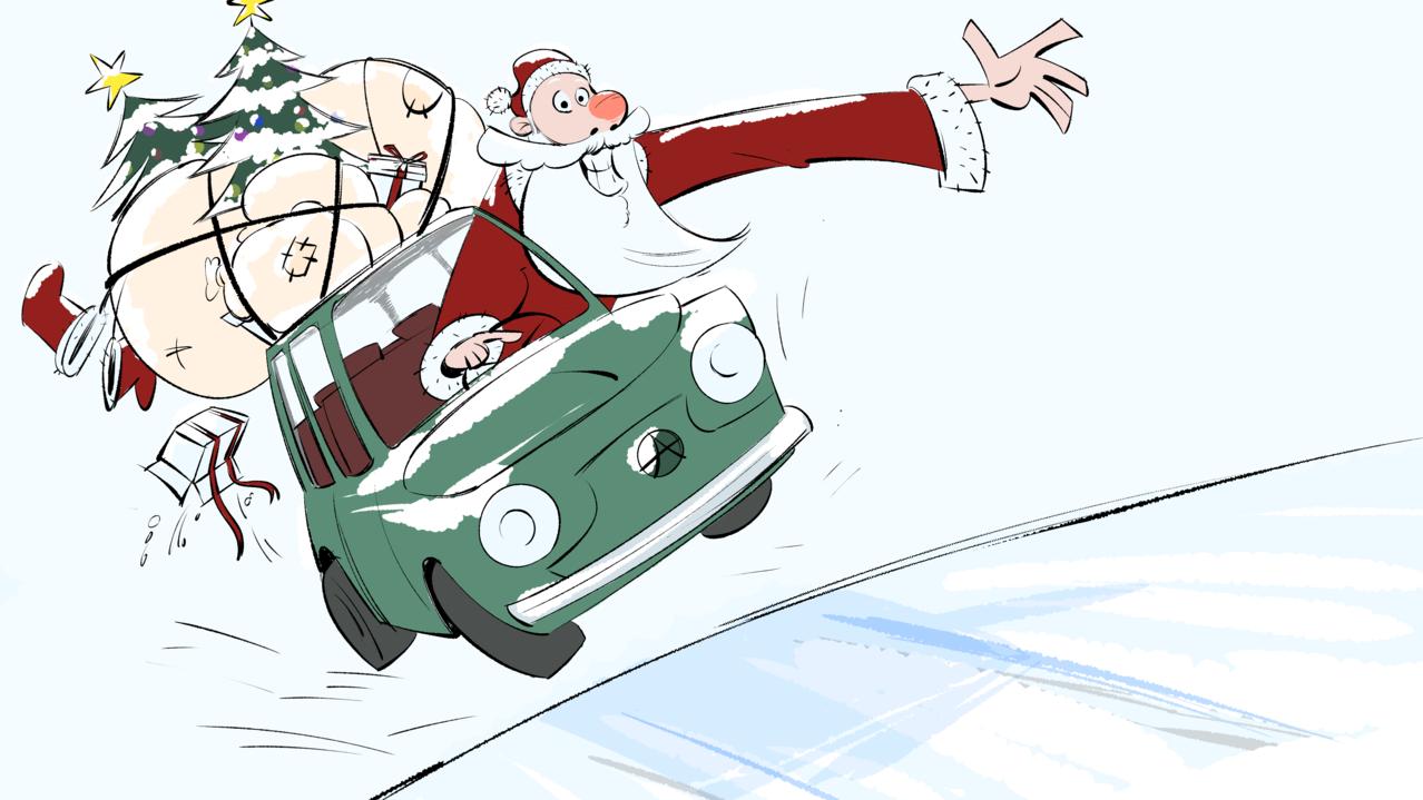 Happy Holidays Illust of Akio doodle Santa drawing Christmas medibangpaint anime illustration animation サンタクロース tutorial