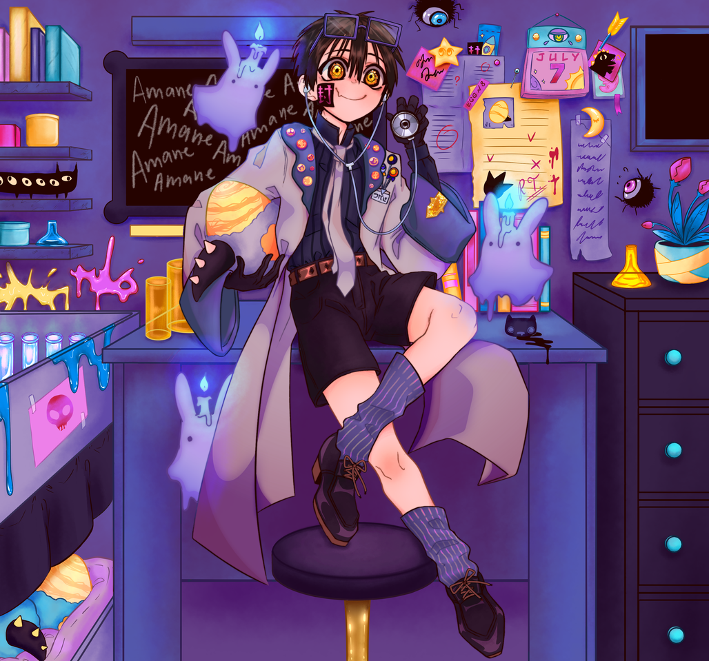 Science! Illust of nikuoni Tsukasa medibangpaint Yugitsukasa Toilet-boundHanako-kun medibang hanakokun
