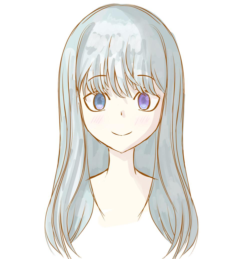 Practice (sketch) Illust of Korella medibangpaint gray sketch аниме animegirl face