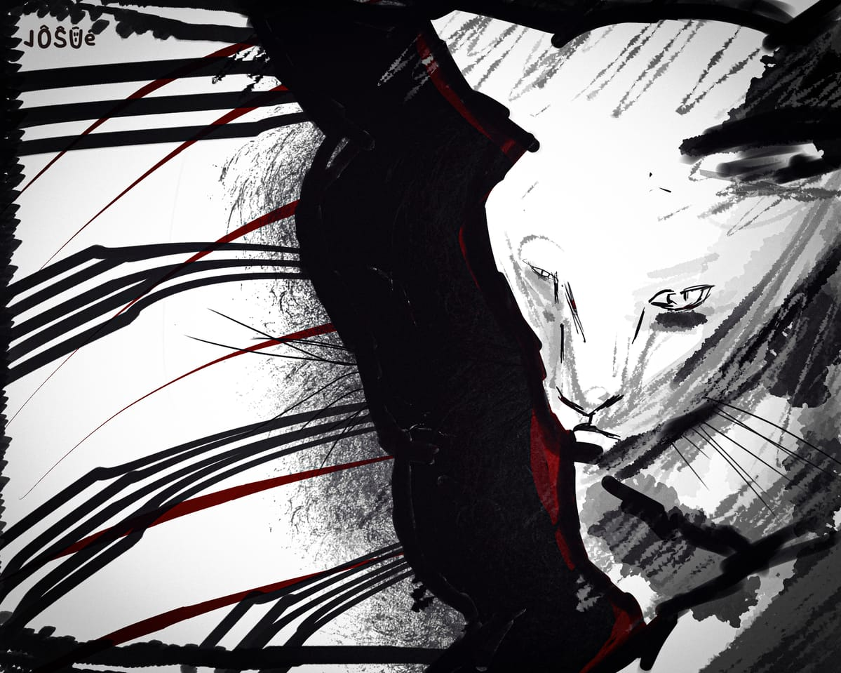 Cat in a moment Illust of JosuAr March2021_Creature illustration animal cat