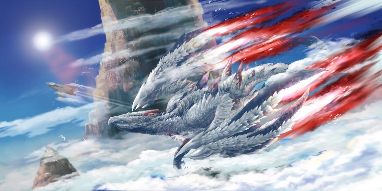 银翼の凶星 Illust of eating dragon fanfic WIP monster fanart MonsterHunter fire