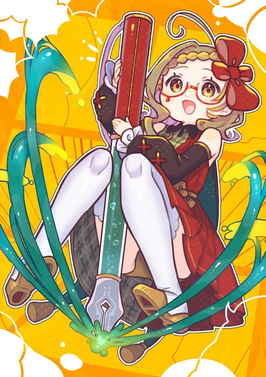 art autumn Illust of 87*saku September2021_Girl yellow girl autumn oc original 創作イラスト kawaii