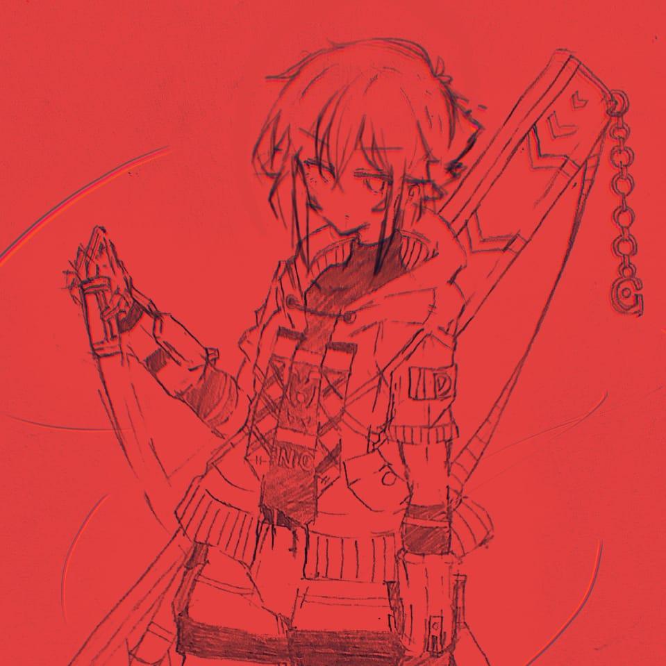 ラフ🟥 Illust of ないももQ ARTstreet_Ranking_Contest boy illustration roughsketch oc doodle red