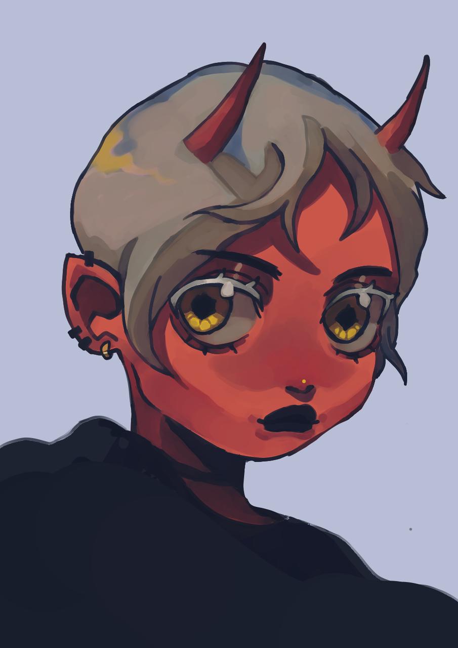 red demon Illust of Cherryzou medibangpaint