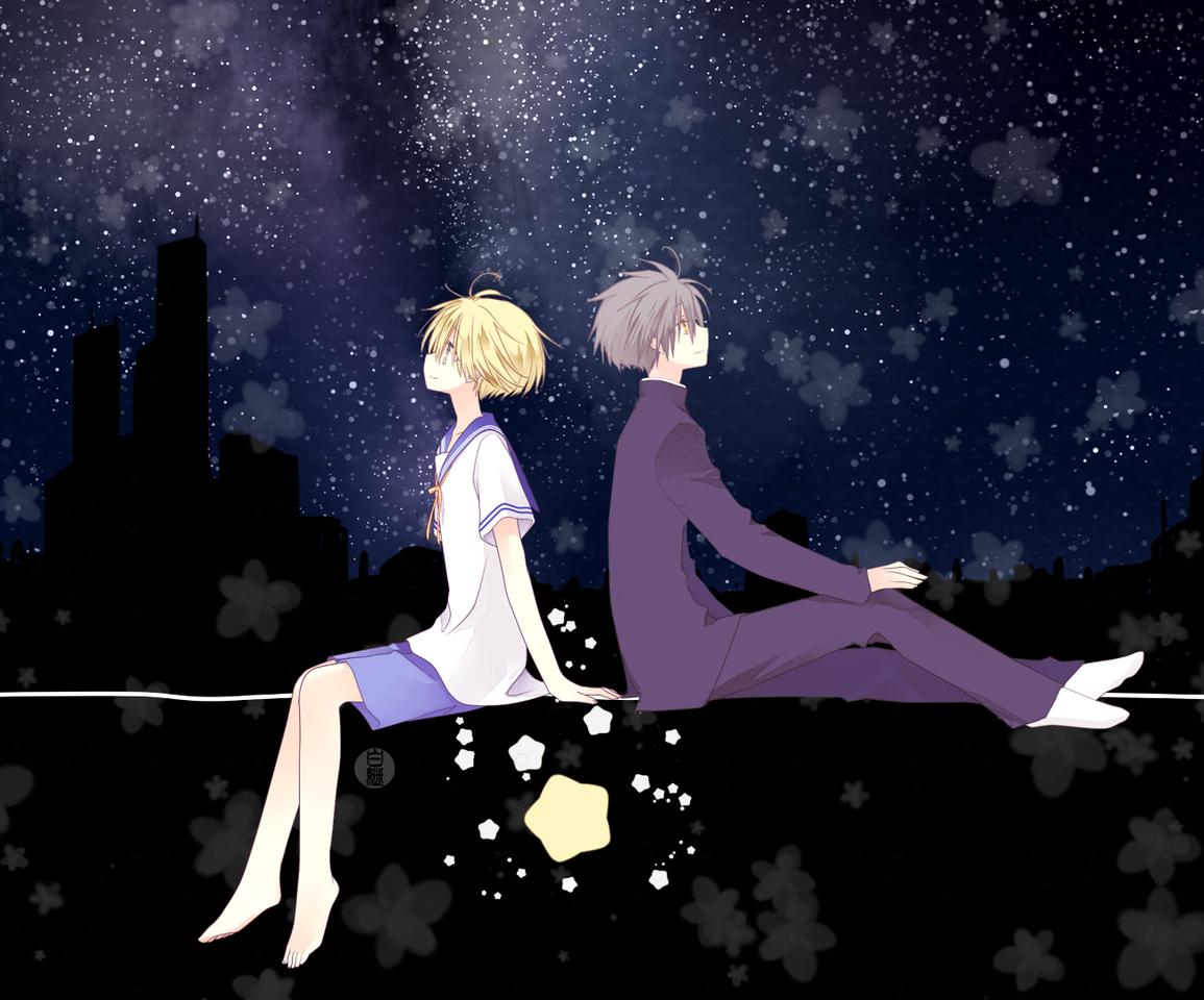 ほしふる Illust of 白継 夜空 illustration star boy original sailor_uniform 学ラン