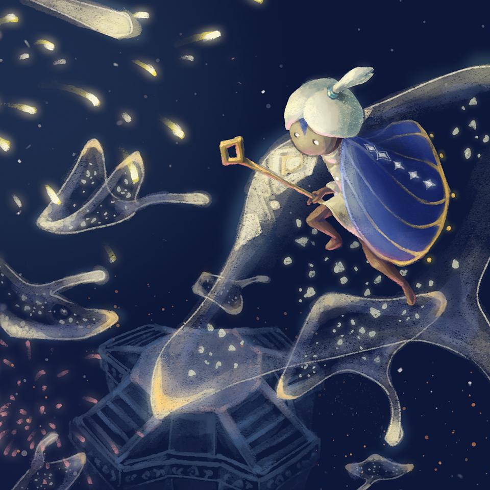 Vault of Knowledge Illust of 齊二口 thatskygame fanart ThatSkyAnniversary sky星を紡ぐ子どもたち