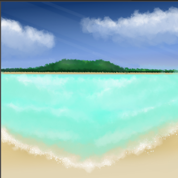 From Youtube.(Read decs) Illust of Emaan July2020_Contest:Anniversary Waves Ocean Island