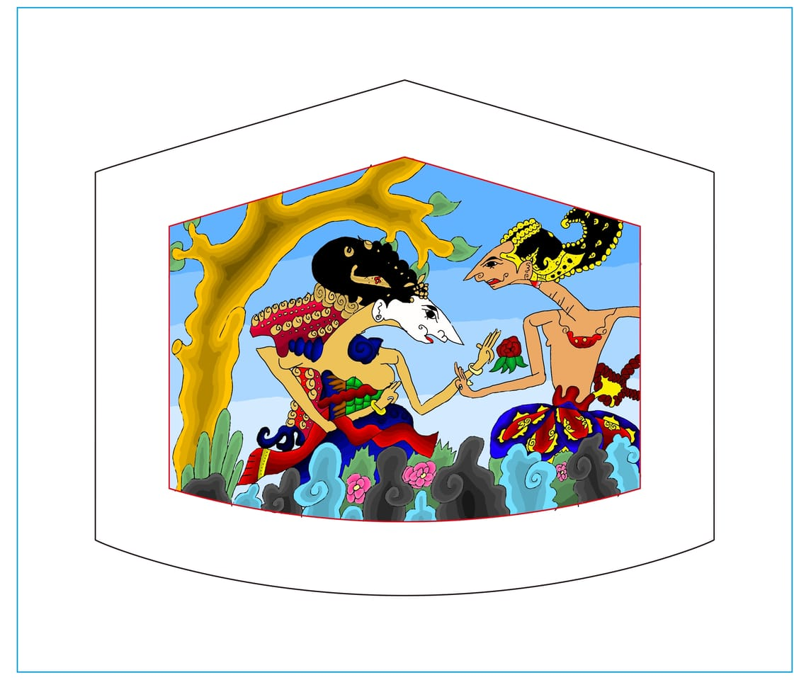 Sungging prabangkara Illust of Adinbach MaskDesignContest Colourful love Wayang Indonesia