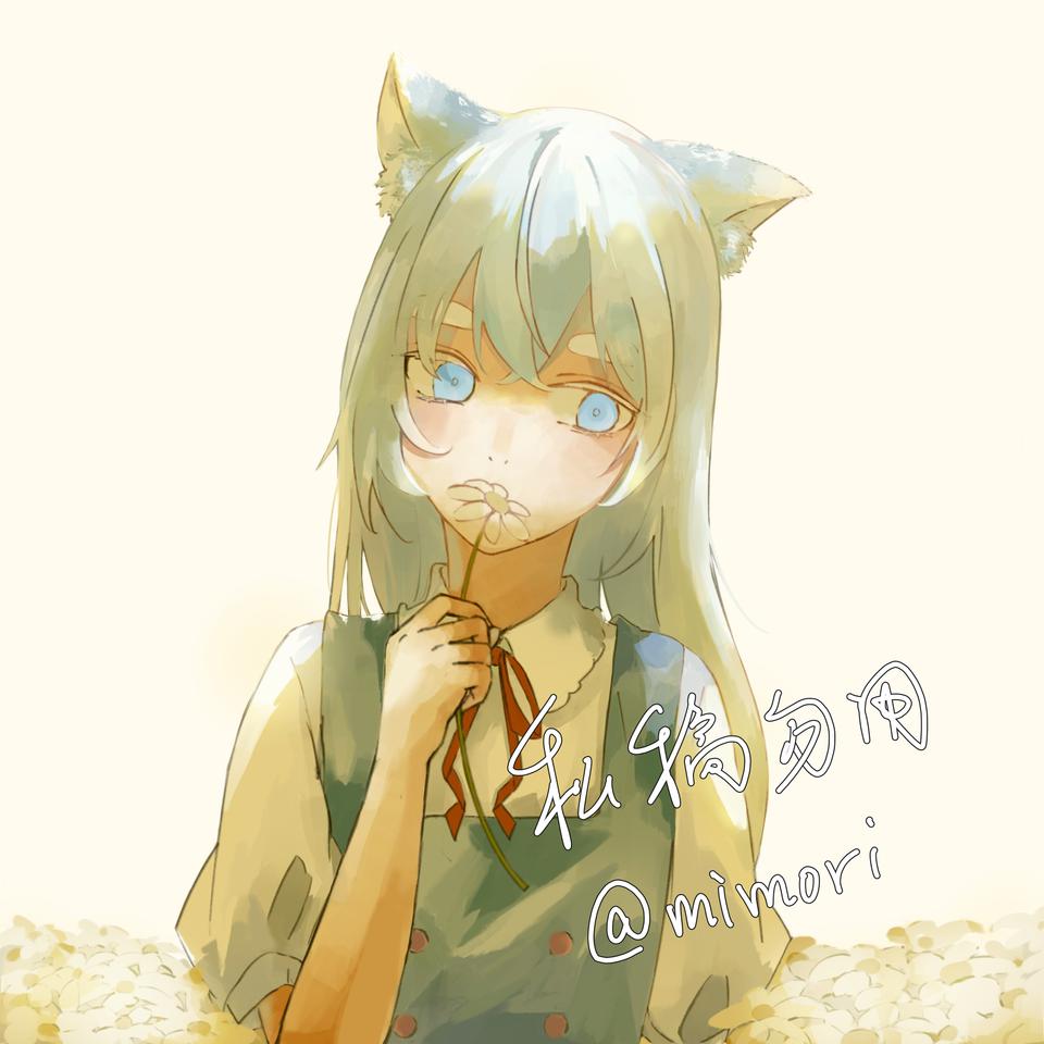 Illust of mimori medibangpaint girl cat_ears