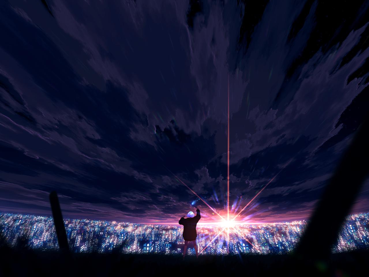 レクイエム Illust of faPka scenery illustration background