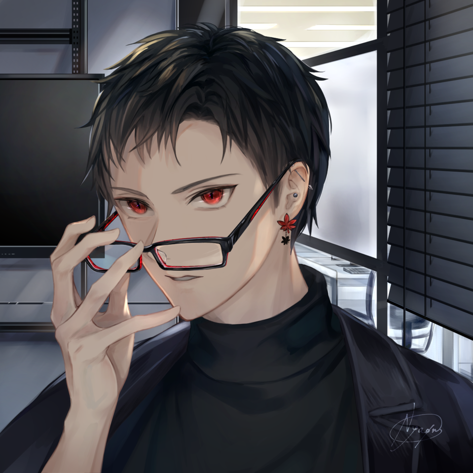 本性 Illust of 稔也 眼鏡男子 glasses original