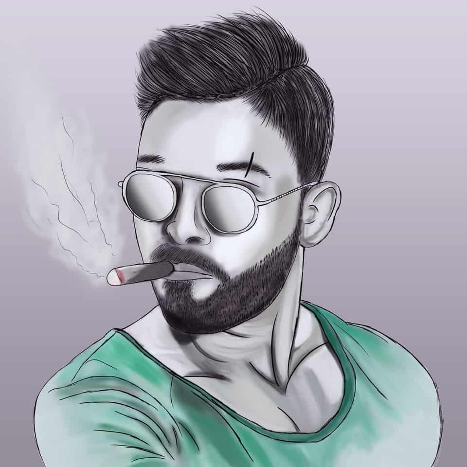 Aa Illust of brave john ARTstreet_Ranking color art otoko handsome cool medibangpaint cigarette speedpaint man