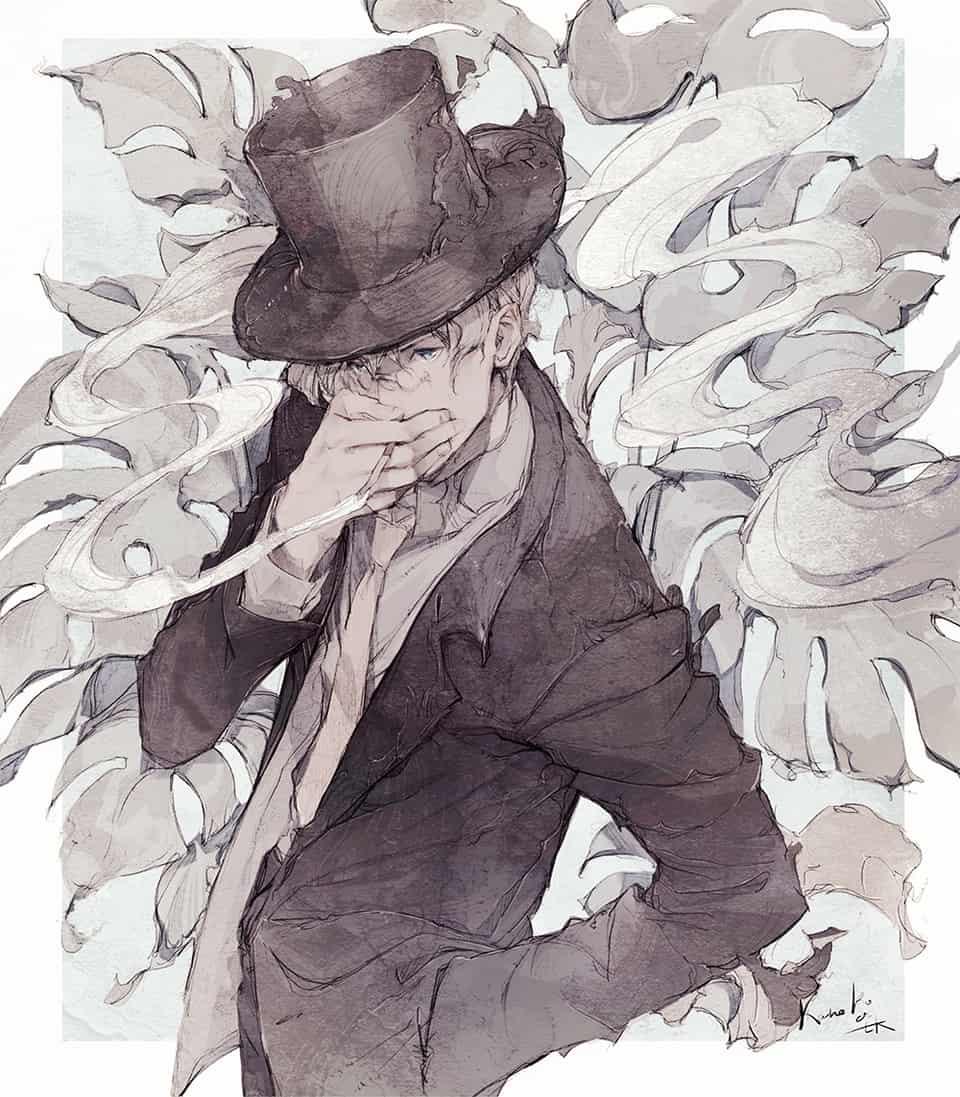smoker Illust of kanekoattk tobacco illustration 紳士 original kanekoattk