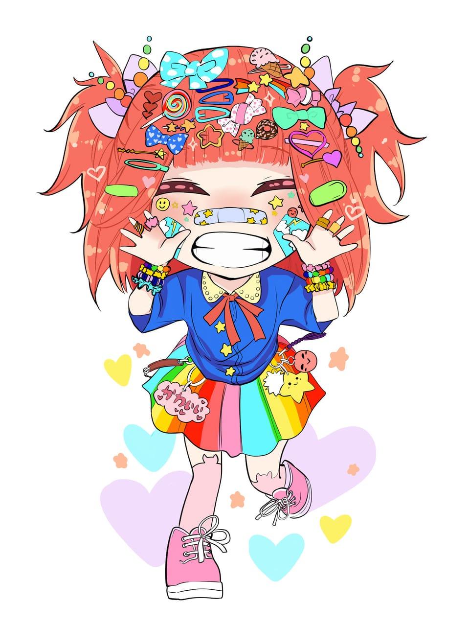 Decora Girl Illust of Nass cute girl oc fashion chibi medibangpaint