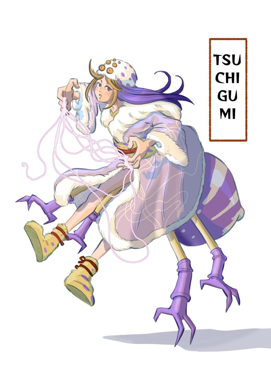 Tsuchigumi (spider demon) Illust of Wutikai March2021_Creature girl demon yokai oc Japanese_style cutegirl