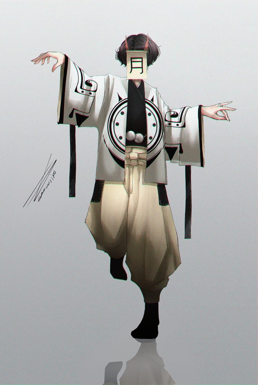 Tsu-ki Illust of Gamousino boy moon oc anime originalcharacters