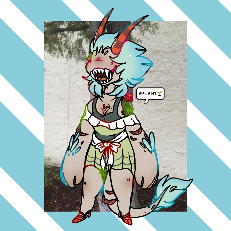 this is Bazi! based off a doll I found in a tree Illust of 🌱GoreM0other🌱 medibangpaint