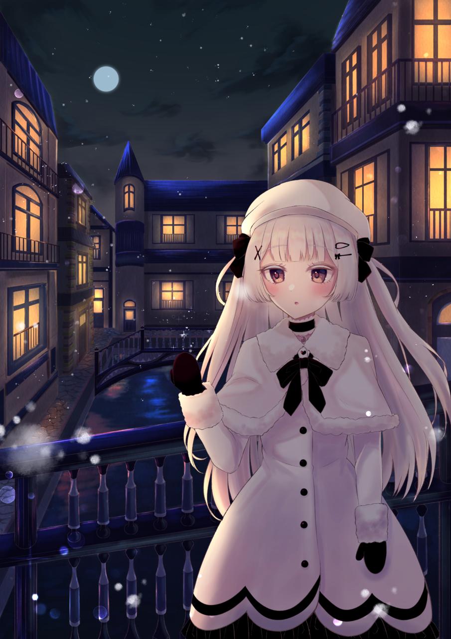 はつゆき Illust of じゅにねう snow girl white_hair original
