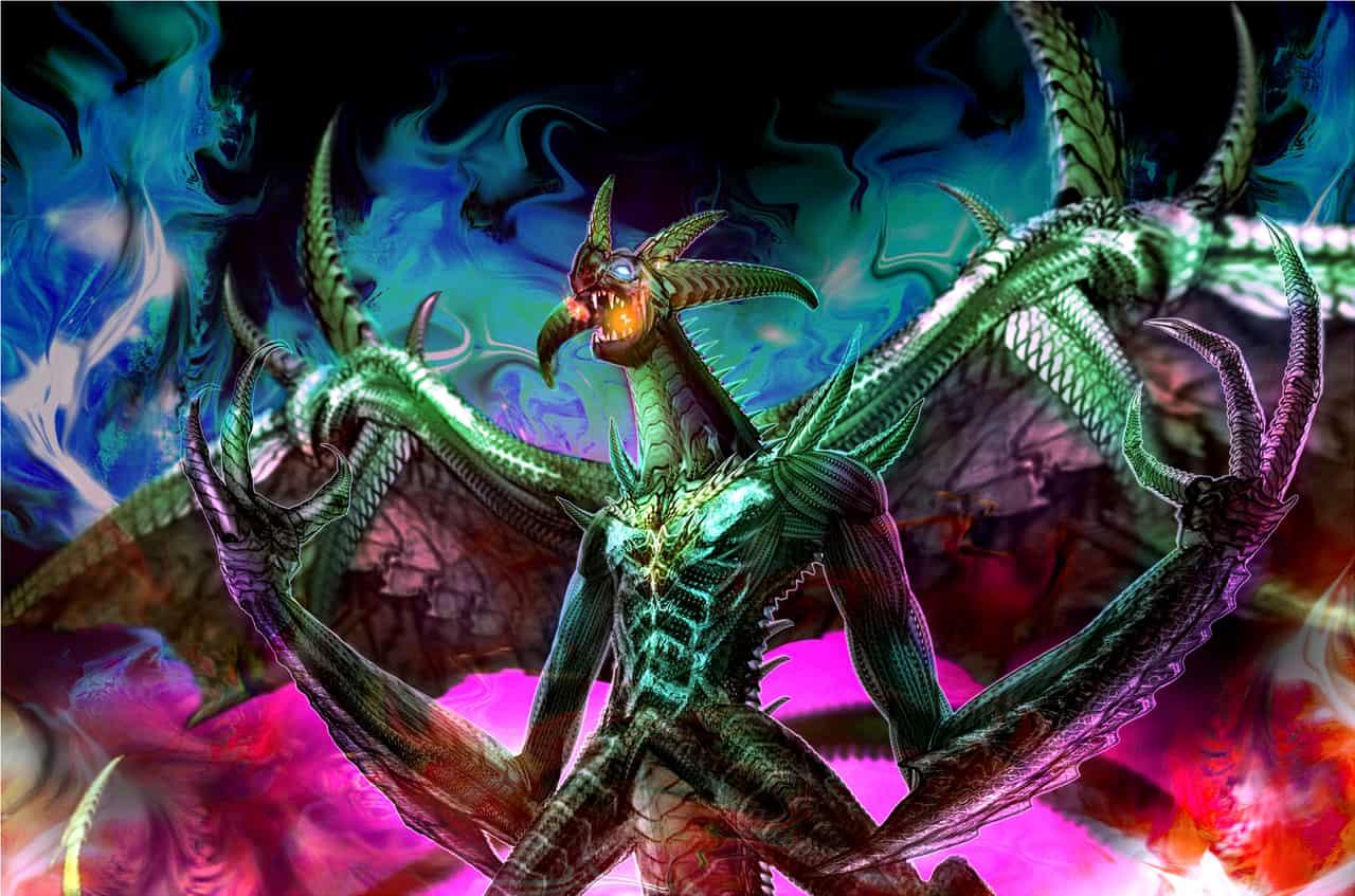 dark dragon Illust of Tow Tateoka Photoshop dragon