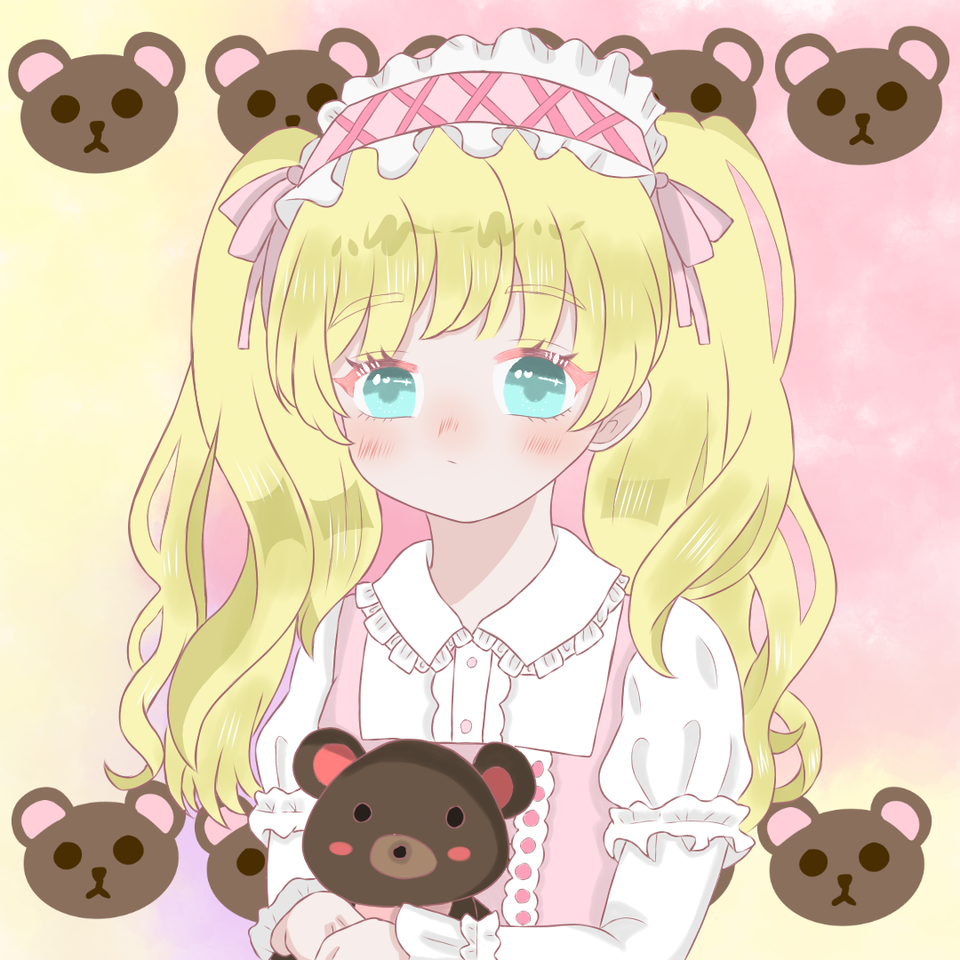 cute lolita profile picture-可愛蘿莉頭像 Illust of 白纸殘燈 freeprofilepic 蘿莉塔 medibangpaint cutegirl