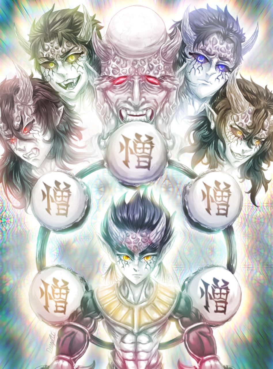 Hantengu [🌕⚃Cuarta Luna Creciente⚃🌕 ] Illust of [Cuenta Abandonada] DemonSlayerFanartContest medibangpaint