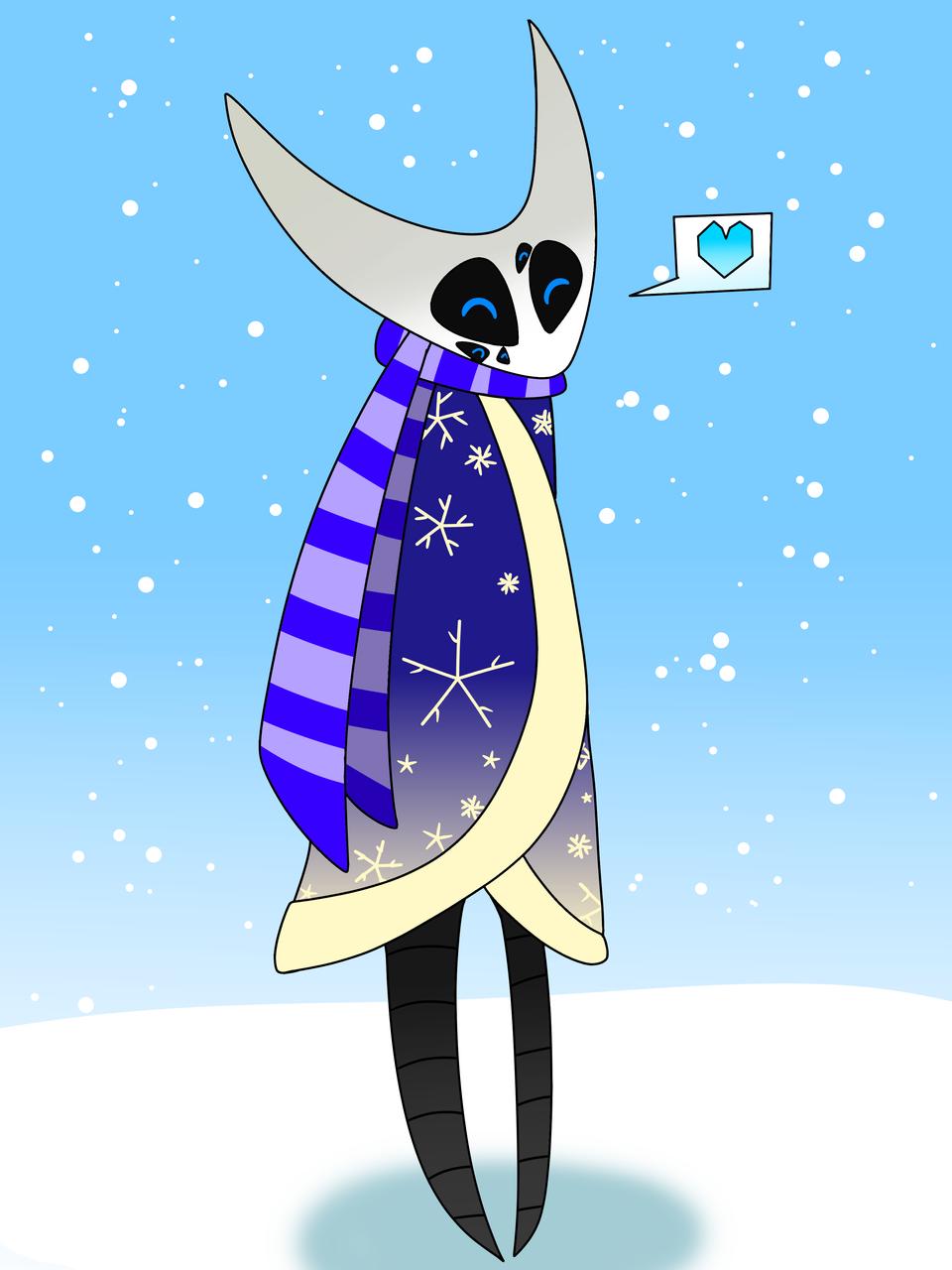 Azula's winter outfit 💙 Illust of ❄Ash❄ Sarv mode medibangpaint winter Hollow_Knight oc azula