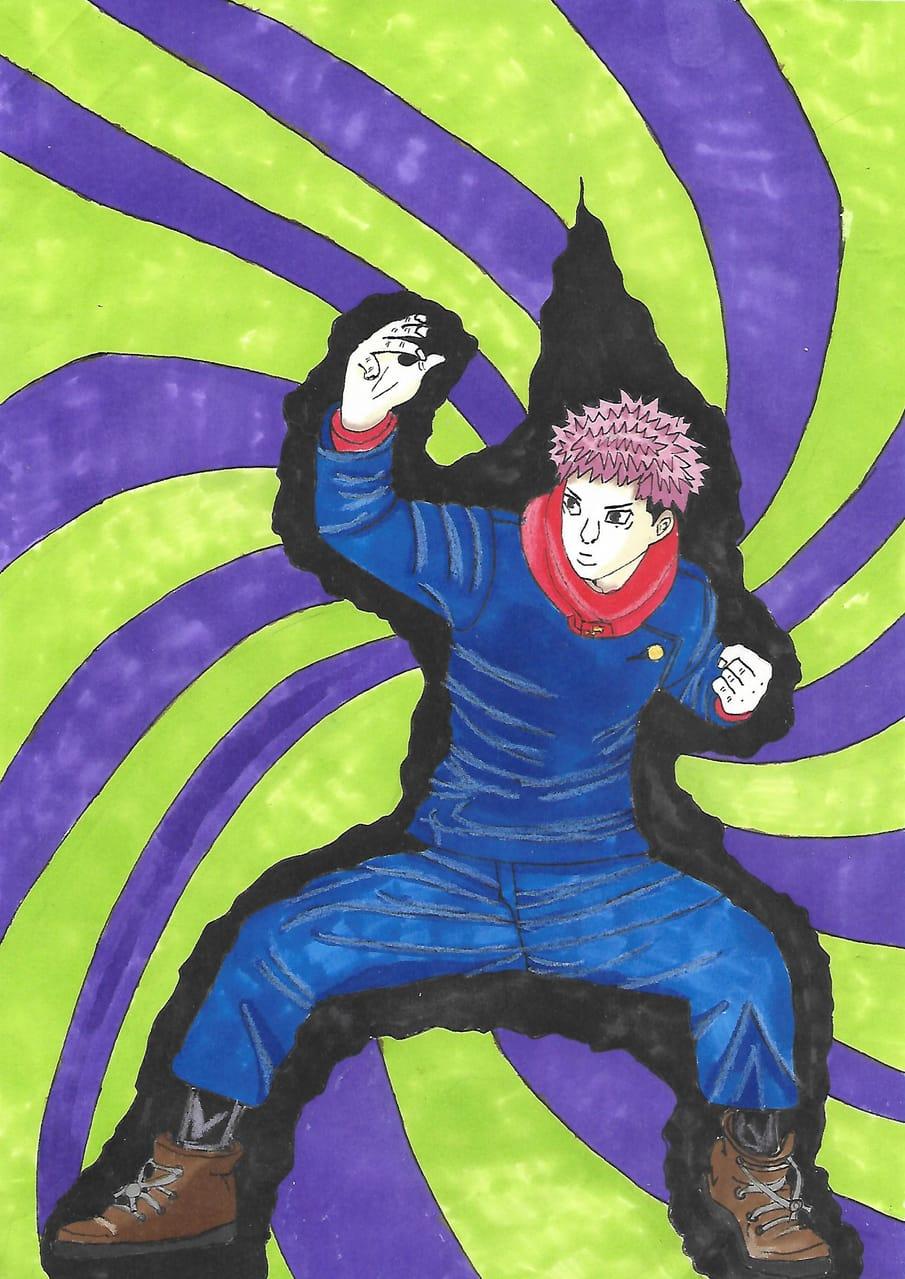 Yuji Itadori Illust of sarahangel30 JujutsuKaisenFanartContest JujutsuKaisen