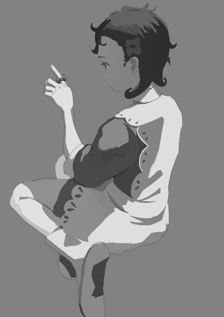 Illust of w メイキング girl 過程 fanart シャドーハウス