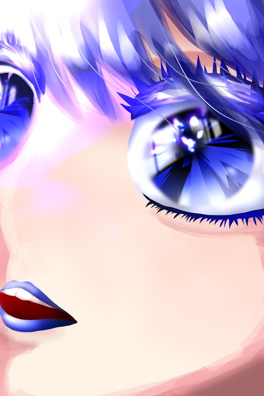 青、蒼、碧 Illust of ゆた medibangpaint レッツワンドロフライデー eyes blue レッツワンドロ girl