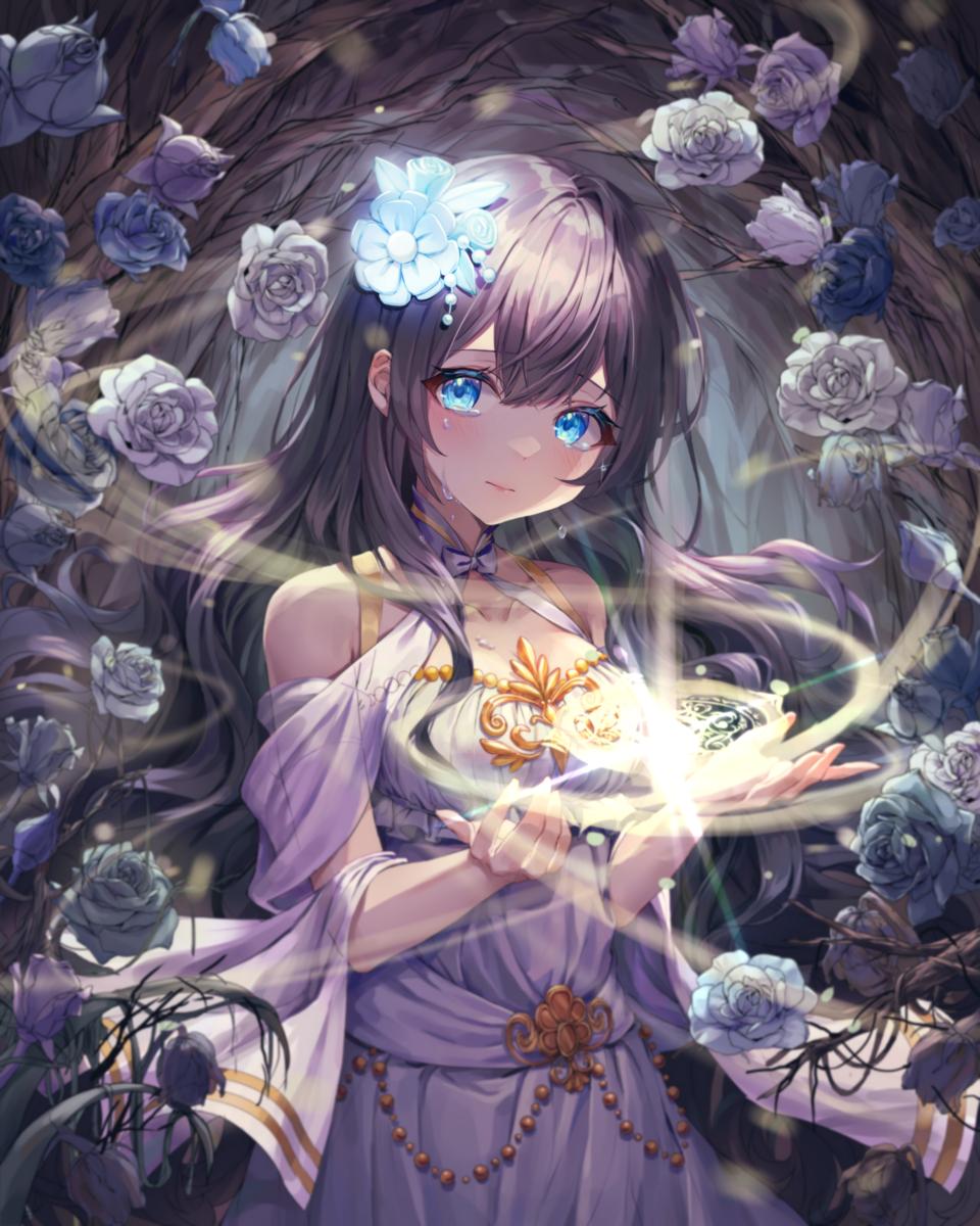 임옐님 커미션 Illust of 엄지손가락👍 medibangpaint flower 마법 purple